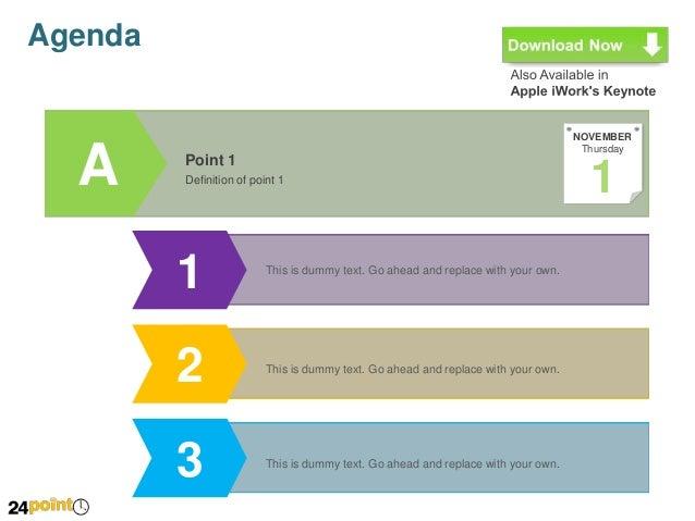 Agenda - PowerPoint Template