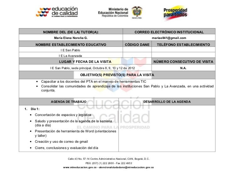 NOMBRE DEL (DE LA) TUTOR(A):                                           CORREO ELECTRÓNICO INSTITUCIONAL                   ...