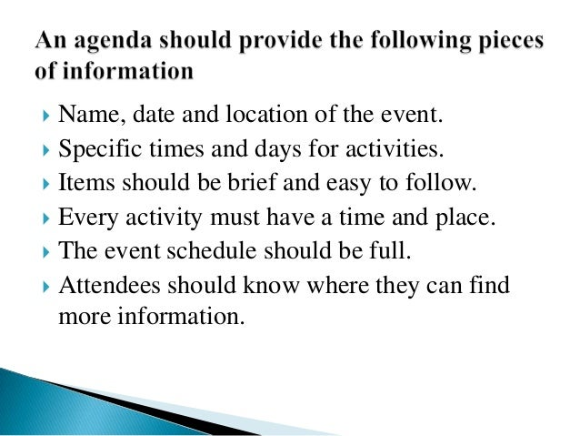 Formal Agenda Format Sample Agenda Template  Meeting Agenda