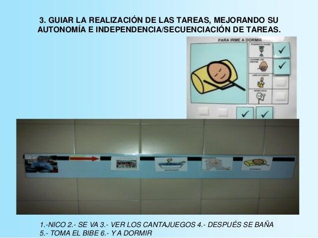 3. GUIAR LA REALIZACIÓN DE LAS TAREAS, MEJORANDO SU AUTONOMÍA E INDEPENDENCIA/SECUENCIACIÓN DE TAREAS. 1.-NICO 2.- SE VA 3...