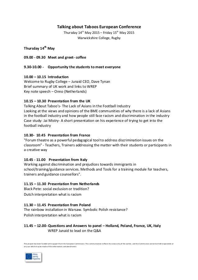 rugby meeting tat agenda