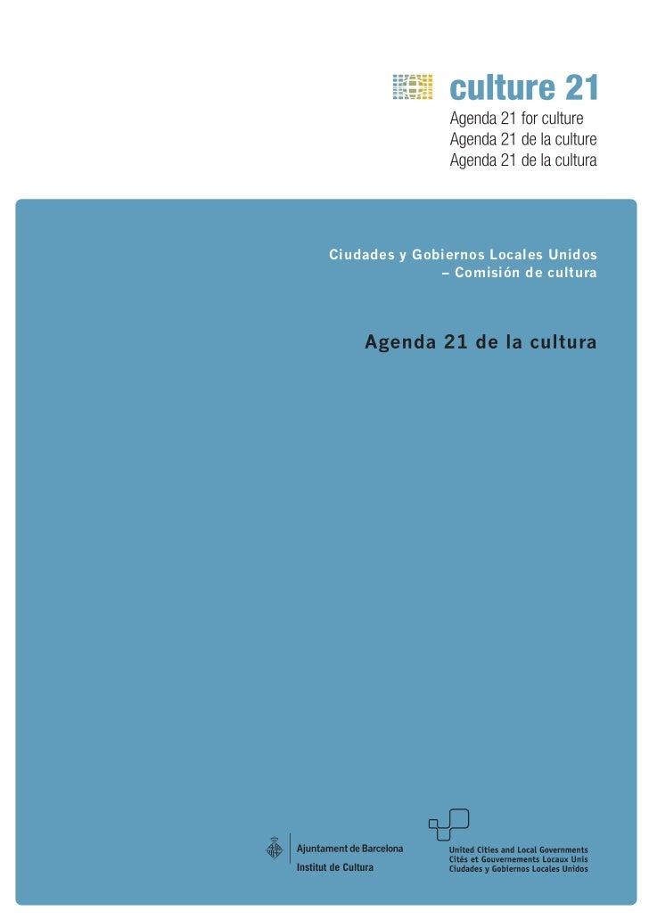 Ciudades y Gobiernos Locales Unidos              – Comisión de cultura