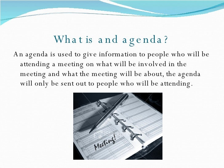 Agenda For A Meeting