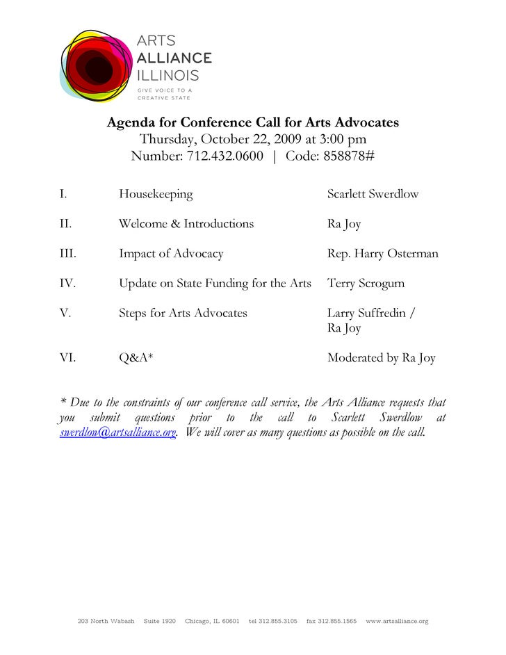 conference call agenda - Template