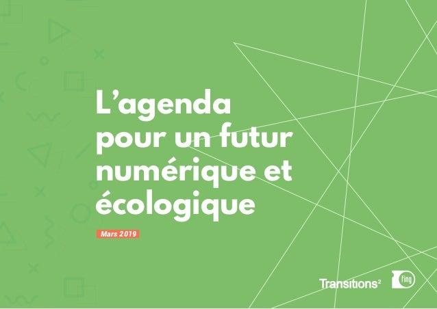 L'agenda pour un futur numérique et écologique Mars 2019