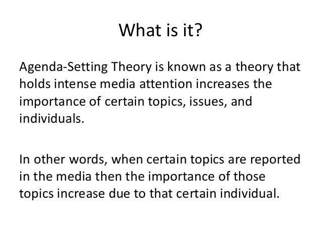 agenda setting theory of mass communication pdf