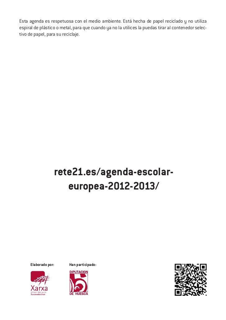 Esta agenda es respetuosa con el medio ambiente. Está hecha de papel reciclado y no utilizaespiral de plástico o metal, pa...