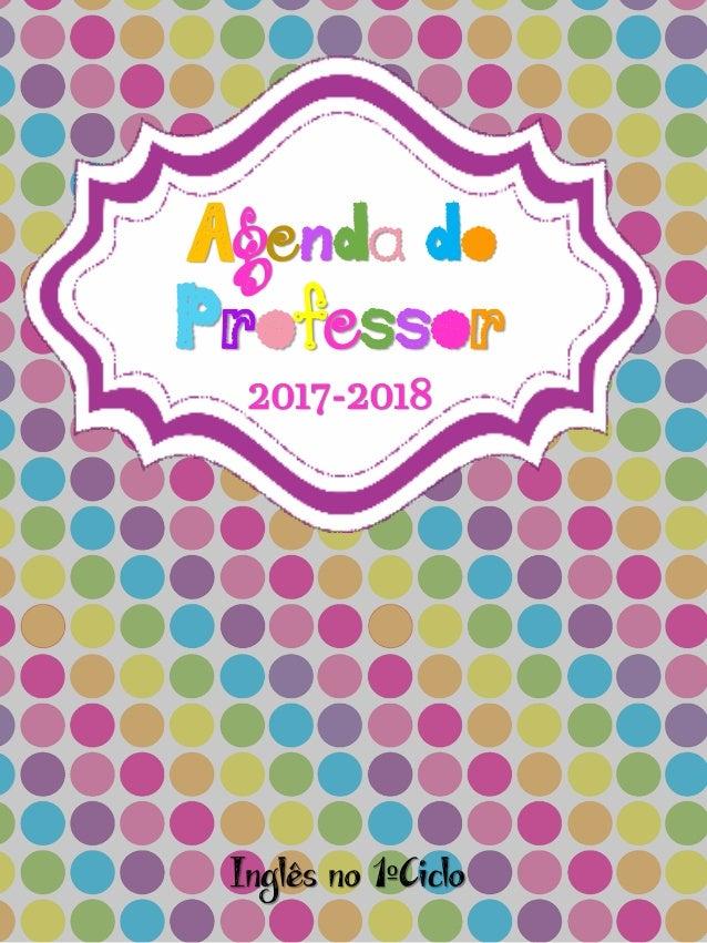 Agenda do Professor 2017-2018 Inglês no 1ºCiclo