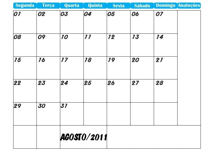 Agenda 2011 agosto janeiro2012 A3