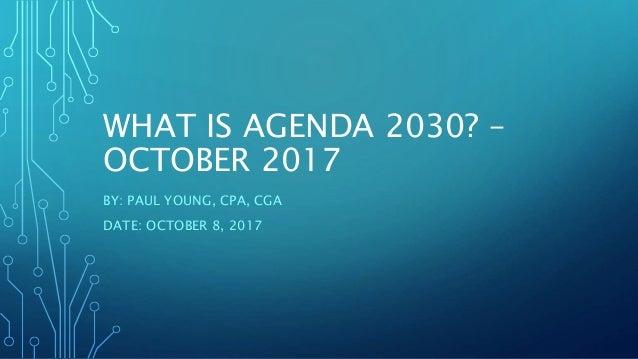 Agenda 2030 - New World Order