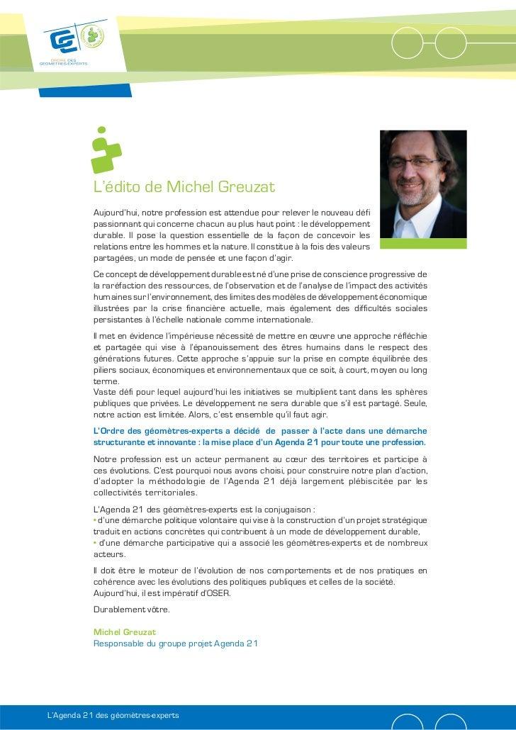 L'édito de Michel Greuzat           Aujourd'hui, notre profession est attendue pour relever le nouveau défi           pass...