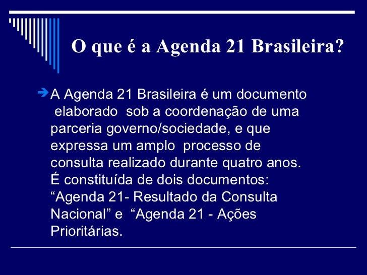 DA AGENDA 21 BRASILEIRA EBOOK