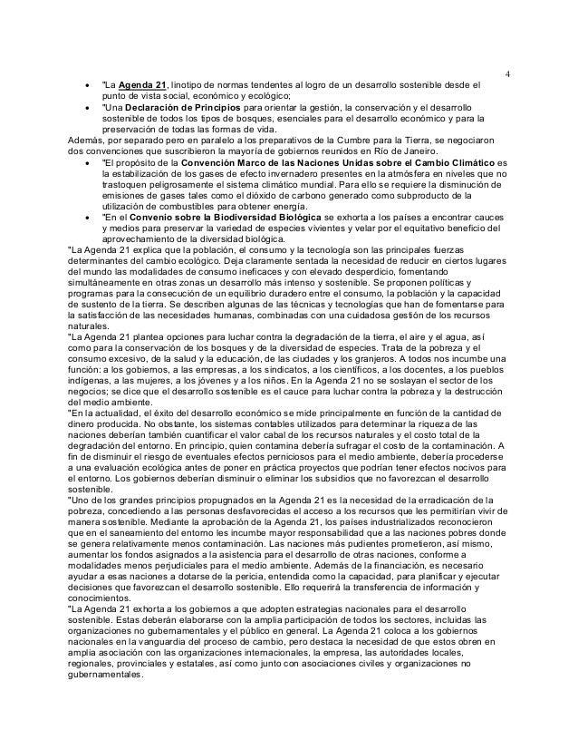 """4 """"La Agenda 21, linotipo de normas tendentes al logro de un desarrollo sostenible desde el punto de vista social, económi..."""