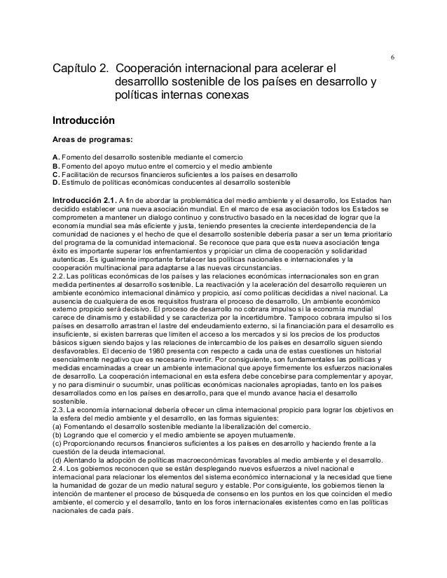 6  Capítulo 2. Cooperación internacional para acelerar el desarrolllo sostenible de los países en desarrollo y políticas i...