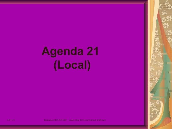 Agenda 21  (Local)