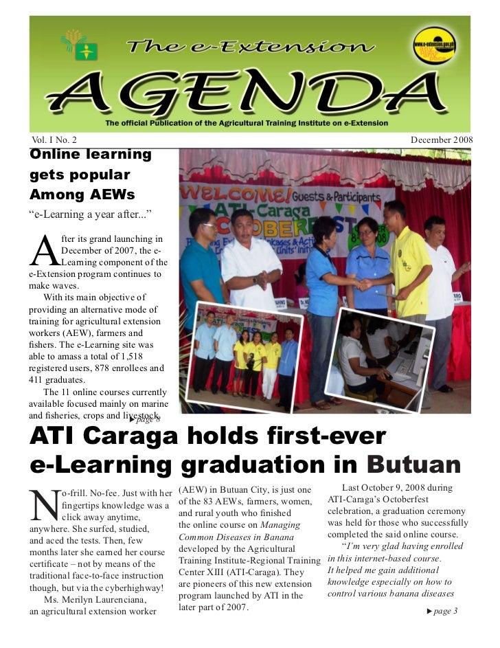 December 2008                                     e-Extension Agenda                                                   1Vo...