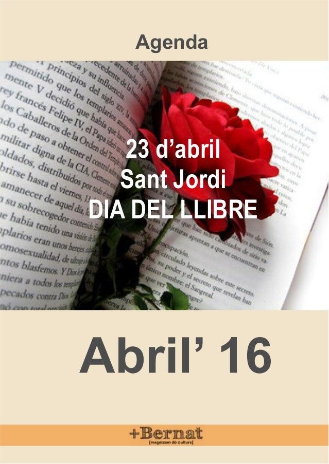 Agenda 23 d'abril Sant Jordi DIA DEL LLIBRE