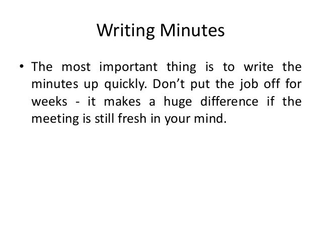 typing meeting minutes