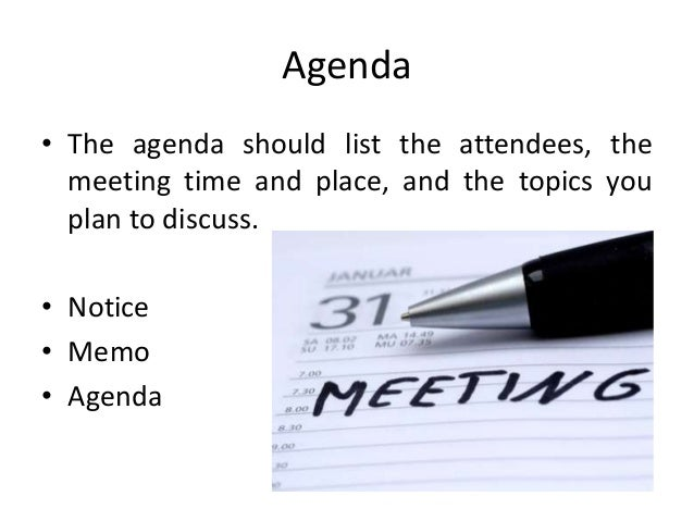 writing agenda for meeting