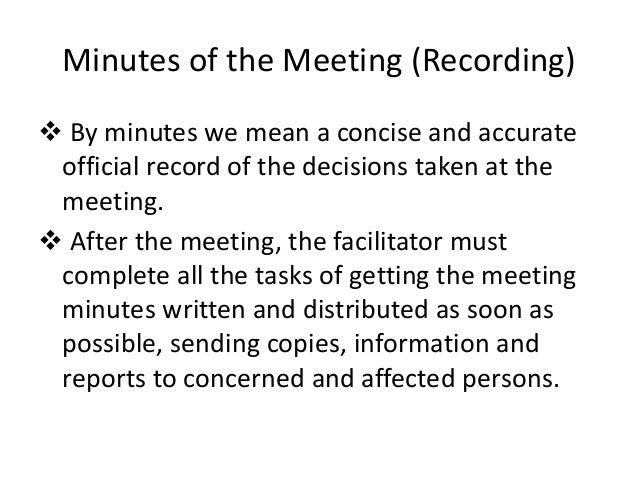 agenda and minutes of meeting