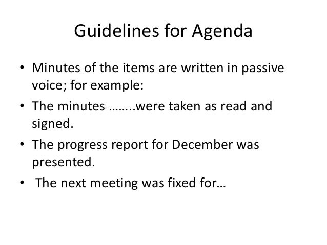 30. Guidelines For Agenda ...  Agenda Layout Examples