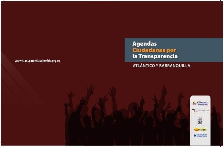 AgendasCiudadanas porla TransparenciaAtlántico y bArrAnquillA
