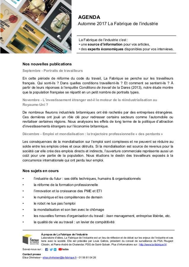 Nos nouvelles publications Septembre - Portraits de travailleurs En cette période de réforme du code du travail, La Fabriq...