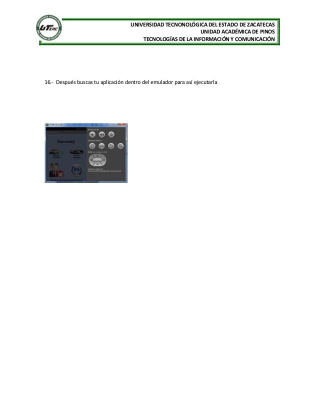 UNIVERSIDAD TECNONOLÓGICA DEL ESTADO DE ZACATECAS UNIDAD ACADÉMICA DE PINOS TECNOLOGÍAS DE LA INFORMACIÓN Y COMUNICACIÓN 1...