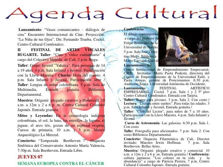 """Lanzamiento: """"Vasos comunicantes – diálogos de cine"""" Encuentro Internacional de Cine. Proyección: """"La Niña de tus Ojos"""". D..."""