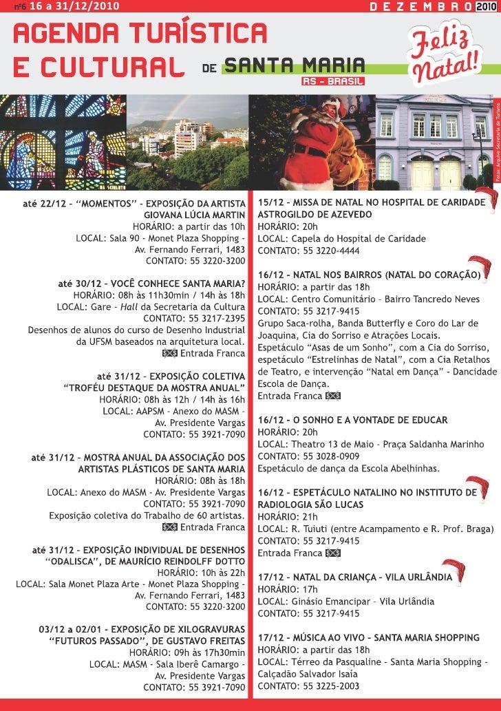 Agenda Turística e Cultural de Santa Maria - RS