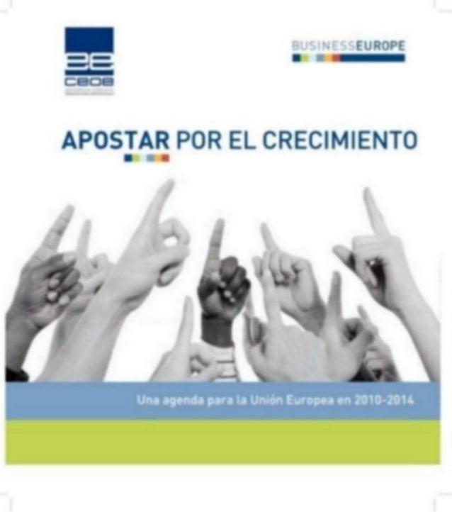 Agenda de crecimiento para europa 2010 2014   businesseurope 2010