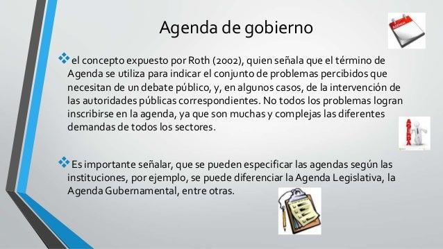 Agenda de gobierno