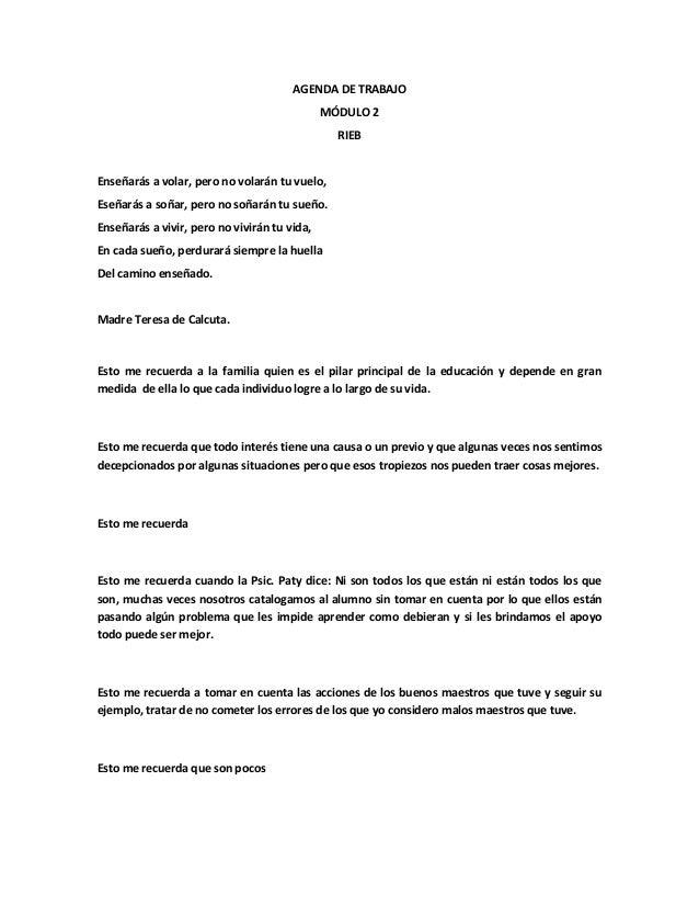 AGENDA DE TRABAJO                                              MÓDULO 2                                                RIE...
