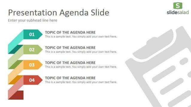 Agenda Diagrams Google Slides Presentation Template SlideSalad - Google agenda template