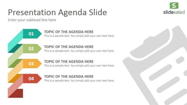agenda diagrams powerpoint presentation template slidesalad