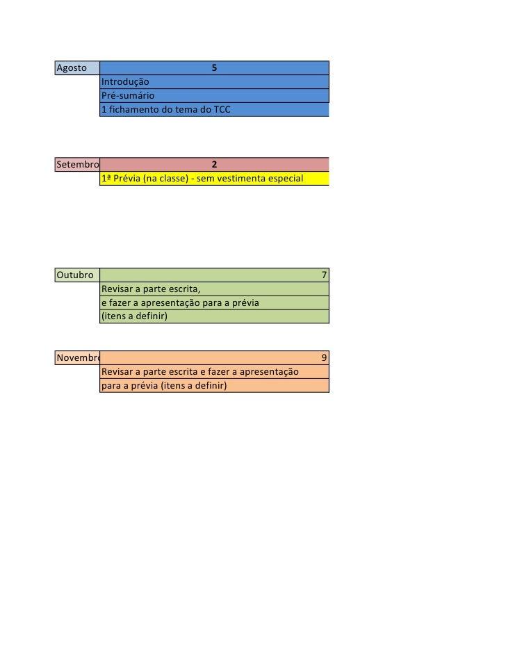 Agenda DTCCAgosto                              5           Introdução           Pré-sumário           1 fichamento do tema...