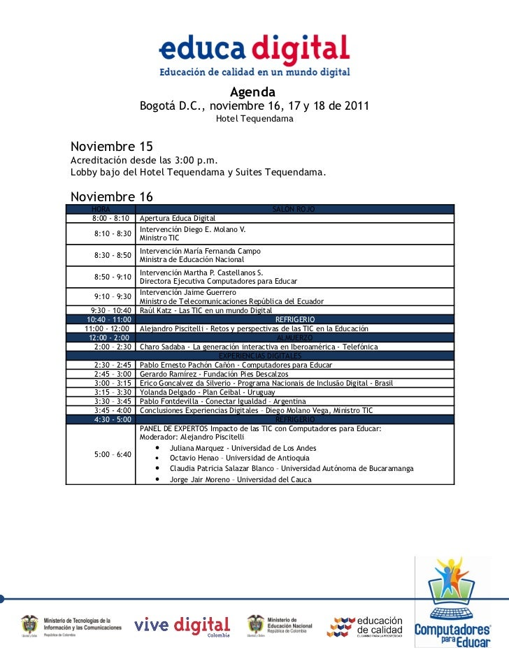 Agenda  Educa Digital