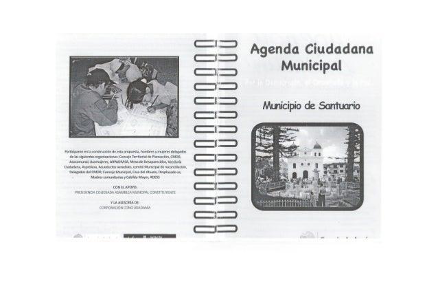 Agenda El Santuario