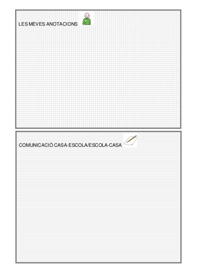 LES MEVES ANOTACIONS COMUNICACIÓ CASA-ESCOLA/ESCOLA-CASA