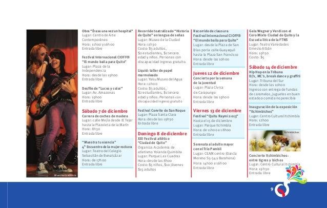 Agenda Fiestas de Quito FiestaQ 2013