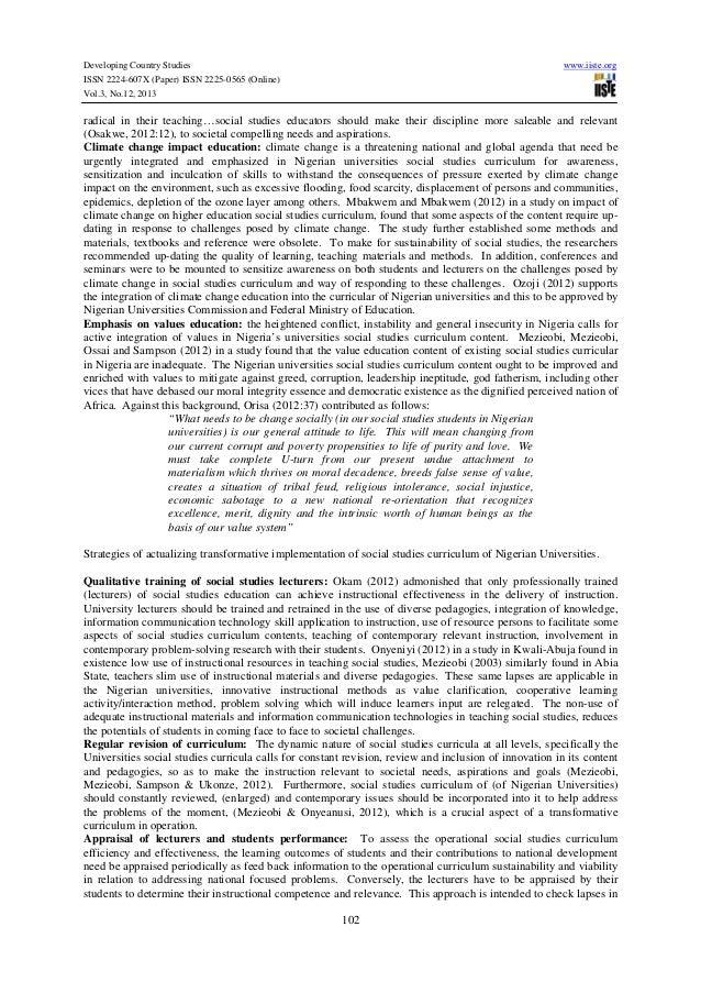 Curriculum implementation and program management