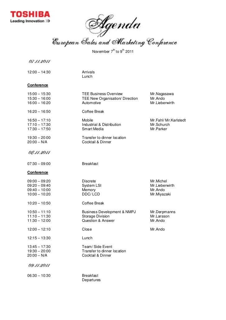 Agenda Form Second Draft