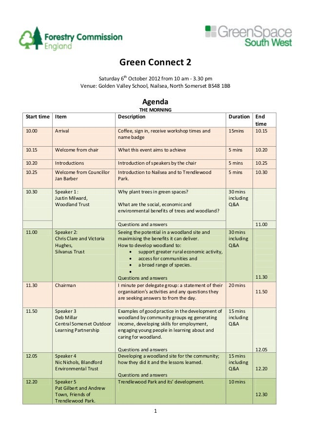 Green Connect 2                                Saturday 6th October 2012 from 10 am - 3.30 pm                         Venu...