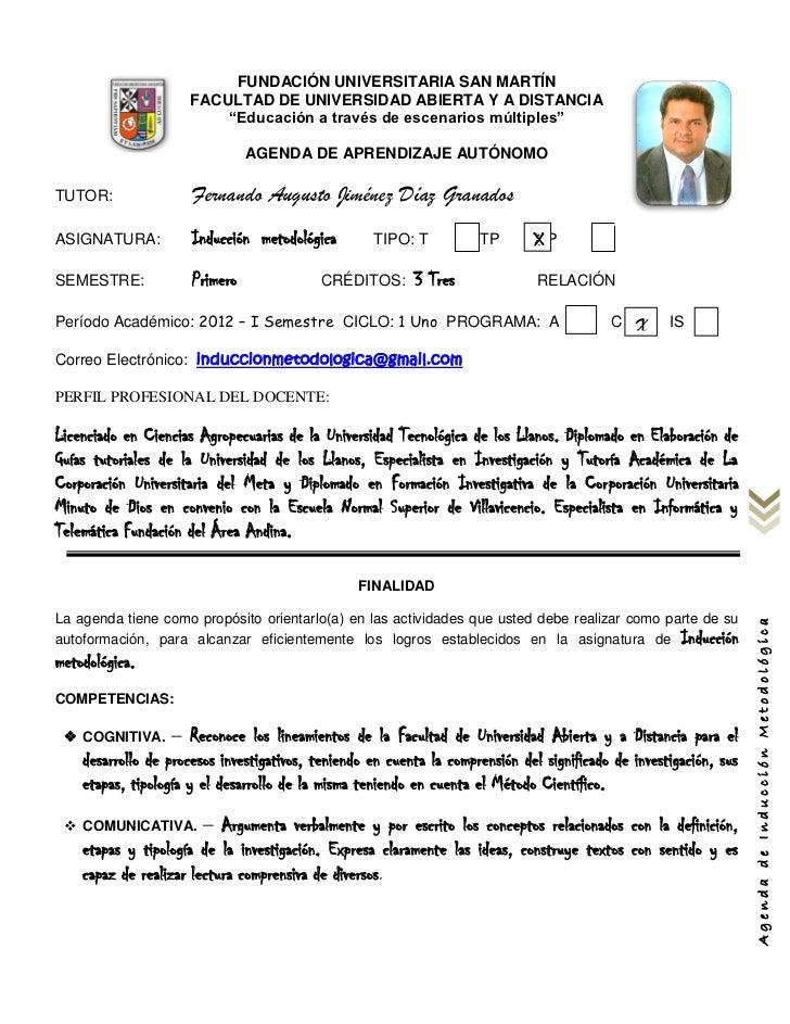 FUNDACIÓN UNIVERSITARIA SAN MARTÍN                      FACULTAD DE UNIVERSIDAD ABIERTA Y A DISTANCIA                     ...