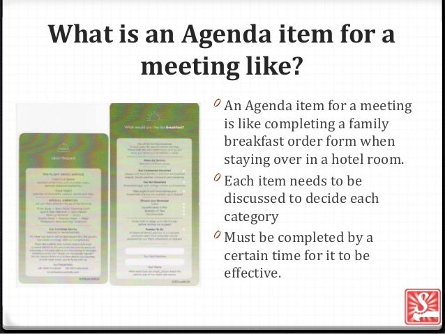 What Is An Agenda | Agenda Item For A Meeting