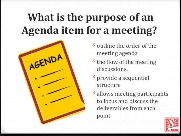 Agenda Item For A Meeting