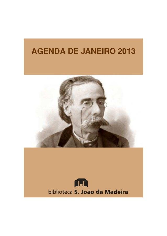 AGENDA DE JANEIRO 2013