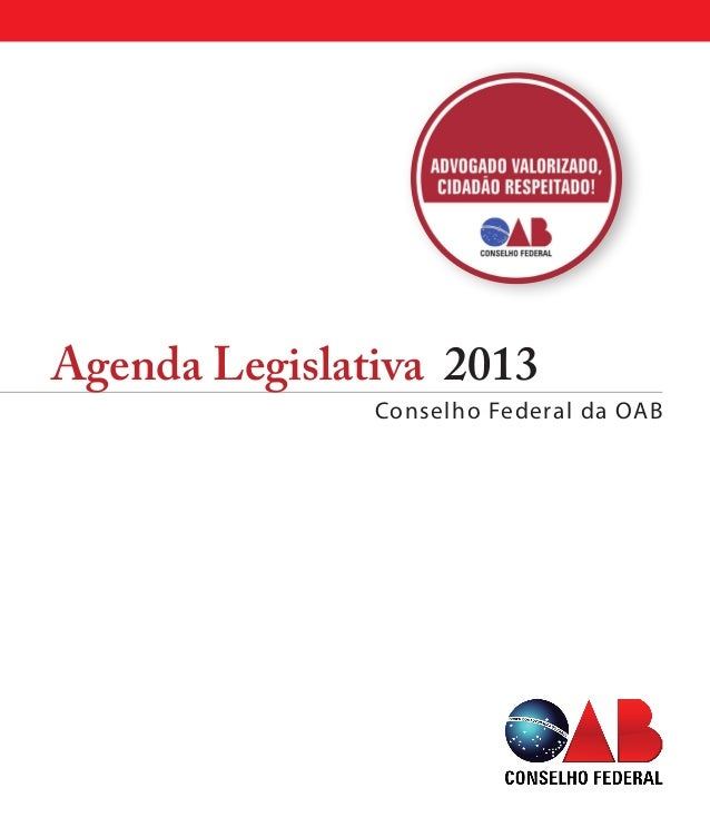 Agenda Legislativa 2013Conselho Federal da OAB