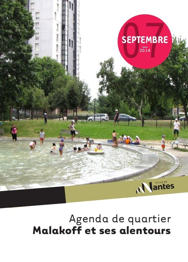 Agenda de quartier  Malakoff et ses alentours  07  2014  SEPTEMBRE