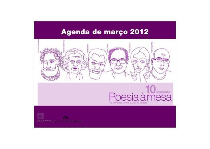 Agenda de março 2012